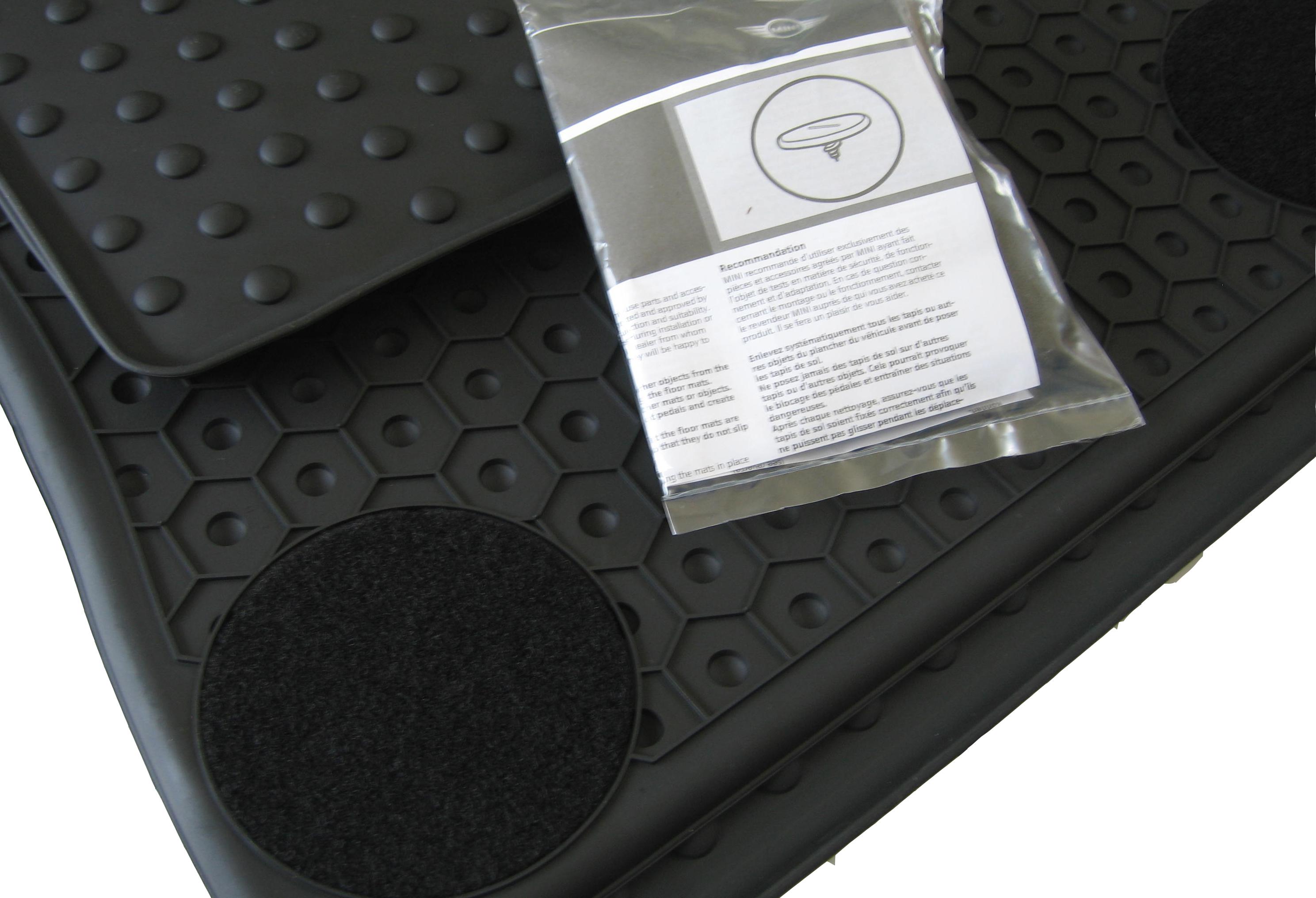 Für Mini Cabrio R57 Bj ab 11.07 Fußmatten Velours schwarz mit Rand königsblau